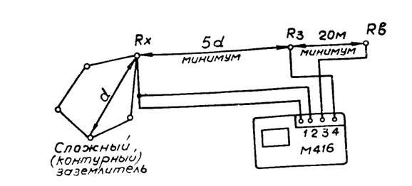 Подключение прибора М-416 по
