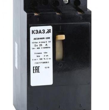 Проверка автомата АЕ 2046